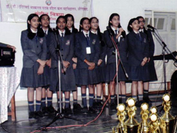 student performance in song competition conducted by dept 2018-19